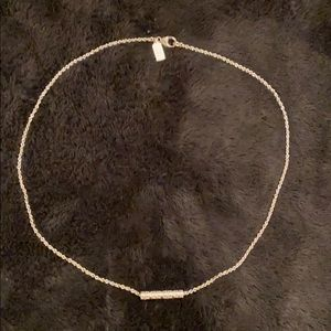 """COACH Bar 17"""" Sterling Silver Necklace"""
